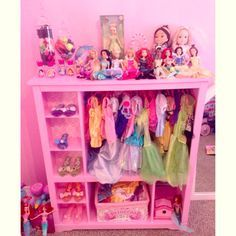 My little princess would love this for her dress up clothes! I would add hooks on the sides for jewelry!