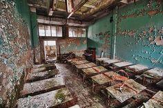 Pripyat classroom, Chernobyl.
