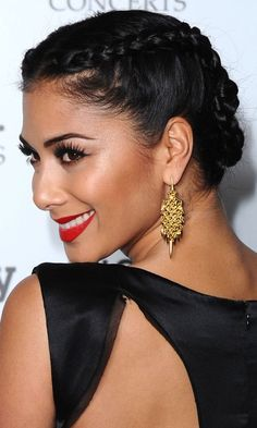 Nicole Scherzingers Party Perfect Plait Hairstyle, 2012