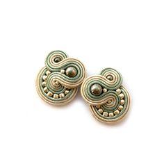 Soutache earrings - Clip-on earrings - Post earrings - SABO Design Diamond Hoop Earrings, Crystal Earrings, Statement Earrings, Stud Earrings, Rose Gold Bridal Jewelry, Raw Stone Jewelry, Soutache Jewelry, Simple Earrings, Bridesmaid Earrings