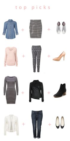 Here are my top looks we are using over on Chasing Cait today to create a capsule wardrobe.  Click the image to go to the blog for more details and to see more outfits