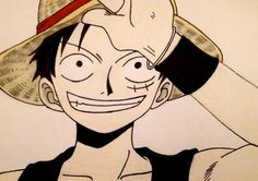 One Piece: Monkey D. Luffy with colors by Joanna12kaisa on deviantART