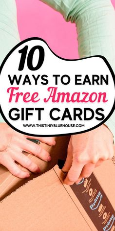 Earn Amazon gift cards for free with these 10 clever tips.  From rewards to survey sites these free ways to get Amazon gift cards is fun and easy. Work From Home Opportunities, Work From Home Jobs, Grocery Savings Tips, Money Saving Mom, Free Cards, Managing Your Money, Amazon Gifts, Budgeting Tips, Ways To Save Money