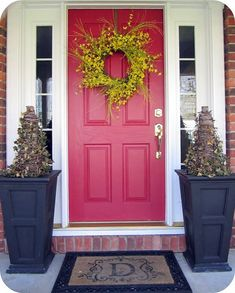 My Blue Front Door: front door color is Sherwin Williams Naval. The perfect navy blue for entry doors or a front door with sidelights. Front Door Colors, Front Door Decor, House Front Door, Front Porch, Sutton Place, Painted Doors, Painted Dressers, Red Bricks, Entry Doors