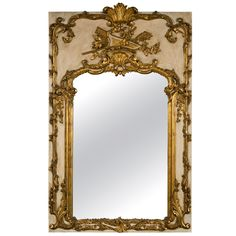 French Rococo Style Painted Mirror   From a unique collection of antique and modern wall mirrors at http://www.1stdibs.com/furniture/mirrors/wall-mirrors/