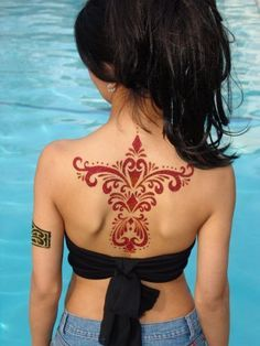 indian henna back tattoos - Google Search