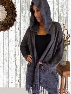 Slouch Cardigan Charcoal