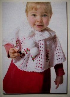 beside crochet: شال كروشية للصغار.crocheted shawl for kids