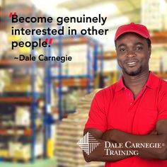Become genuinely interested in other people. - #DaleCarnegie