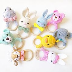 2019 All Best Amigurumi Crochet Patterns - Amigurumi Free Pattern The most admired amigurumi crochet toy models in 2019 are waiting for you in this article. The most beautiful amigurumi toy patterns are all on this site.Baby crochet teethers and pacifiers Crochet Baby Toys, Crochet Teddy, Crochet Amigurumi, Newborn Crochet, Crochet Bear, Amigurumi Patterns, Cute Crochet, Crochet Animals, Crochet For Kids