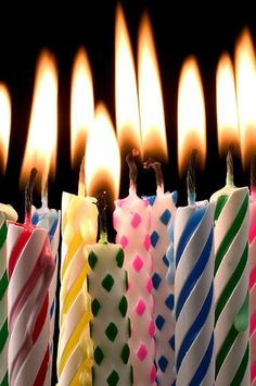 Birthday Candles Art Print By Garry Gay