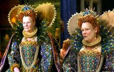 Queen elizabeth peacock renaissance dress from movie 'shakespeare in love' Renaissance Dresses, Medieval Clothing, Historical Clothing, Theatre Costumes, Movie Costumes, Tudor Dress, Shakespeare In Love, Peacock Dress, Queen Costume