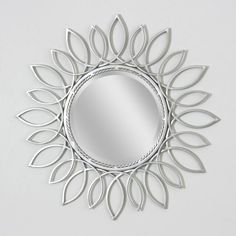 Sunflower Nickel Large Wall Mirror (8900)