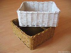 Como trançar cestas com rolinhos de papel
