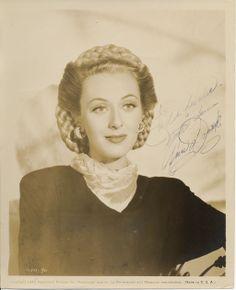 Ann Dvorak 10x8 vintage signed 1948 sepia photograph