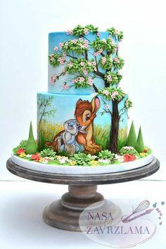 Ideas For Birthday Cake Disney Desserts Disney Desserts, Disney Cakes, Fancy Cakes, Cute Cakes, Beautiful Cakes, Amazing Cakes, Birthday Cake Girls, Birthday Cake Disney, Birthday Ideas