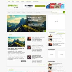 Emerald Responsive Magazine WordPress Theme | WordPress Theme Download