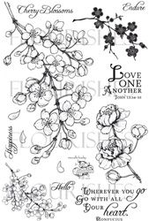 stamps, Flourishes, cherry blossoms