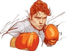 Saul Canelo Alvarez by kike-ipo on DeviantArt Saul Canelo Alvarez, Mexican Boxers, Marijuana Art, Character Description, Drawing Tools, Kickboxing, Box Art, Martial Arts, Photoshop