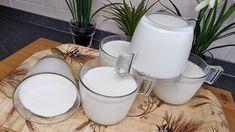 Yogurt, Flan, Latte, How To Make Cheese, Tupperware, Gelato, Biscotti, Glass Of Milk, Crock