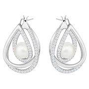 Swarovski Free Pierced Earrings, White