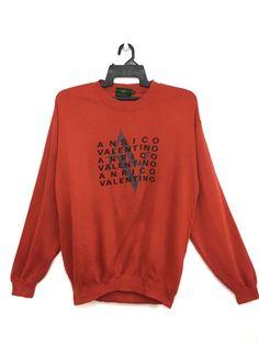 1ea4c6b9608 Valentino ANRICO VALENTINO Sweatshirt Jumper Medium Size Orange Color Size  l - Sweatshirts   Hoodies for