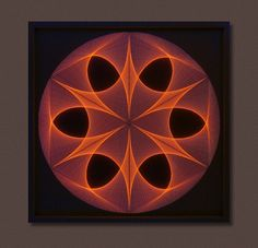 Wall Art Zen Large String Art Mandala in Brown & por FeniksArtDeco