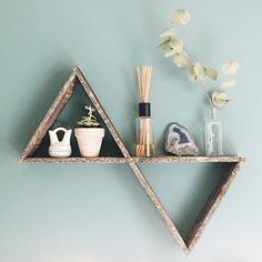 Doppelzimmer zurückgefordert Dreieck Regal von ShopFernwehSupplyCo