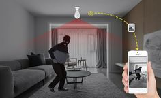Wi-Fi Light Bulb Home Security Camera 360 Degree Wireless Home Security Cameras, Wireless Home Security Systems, Security Surveillance, Security Alarm, Alarm Companies, Best Alarm, Home Improvement Center, Best Home Security, Home Safety