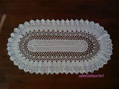 virkattu soikea liina - crochet oval doily