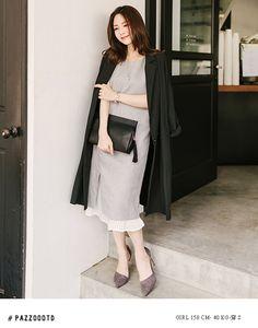 CLASSY LOOK俐落側開岔百褶洋裝.女裝.PAZZO