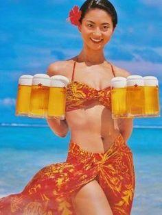 「ビール キャンペーンガール ポスター」の画像検索結果