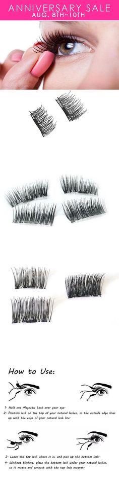 Magnetic Eye Lashes Reusable Ultra Thin Black Thicker 3D Magnet False Lash Makeup #lashesmakeup