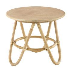Runder Couchtisch Aus Holz Und Rattan, D 46 Cm Von Maisons Du Monde. Die  Gesamte Welt Der Möbel Und Dekorationen Finden Sie In Unserem Shop.