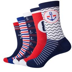 f84e9bd21 Marine Themed Men s Socks - Set of 5 pairs  29.99 and FREE Shipping  www.hetopia