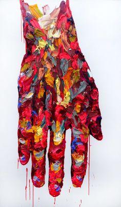 [197] untitled oil on canvas 193.9 x 112.1 cm 2013 by KwangHo Shin, via Behance