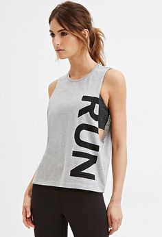 Yoga Clothes : Forever 21 ♡ Women's Workout Clothes Womens Workout Outfits, Sport Outfits, Fitness Outfits, Athletic Wear, Athletic Tank Tops, Athletic Outfits, Forever 21 Outfits, Workout Attire, Muscle Tees