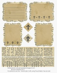 from Gina's Designs: Freebie Friday Dictionary Page Journaling Cards, great size for Project Life journal cards Papel Vintage, Vintage Crafts, Vintage Paper, Vintage Labels, Vintage Ephemera, Journal Cards, Junk Journal, Life Journal, Bullet Journal