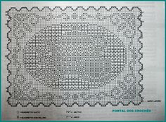 Filet Crochet Charts, Crochet Diagram, Crochet Motif, Crochet Doilies, Knit Crochet, Crochet Patterns, Crochet Hats, Thread Crochet, Table Linens
