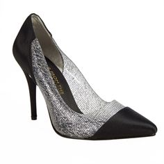 E! Live from the Red Carpet Vernice Mixed Material Point Toe Pump
