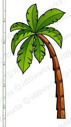 palm trees clip art | ... Sheet - Starfish, Sun, Palm Tree, Sunglasses, Flip Flops - Thumbnail 2