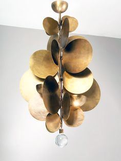 gold disks chandelier
