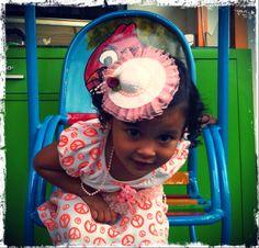Chaira's cute orange hat bands