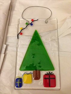 Fused glass tree