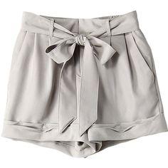 【ELLE SHOP】チノショートパンツグレー|カイラニ(Kai Lani)|ファッション通販 エル・ショップ ($205) ❤ liked on Polyvore