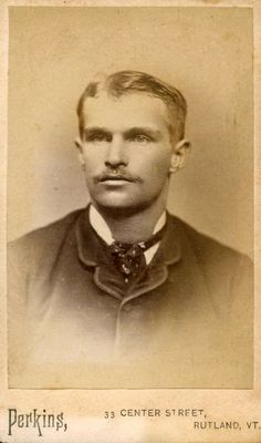 Vintage Cabinet Card Photo of a Handsome Man by Perkins of Rutland, Vermont