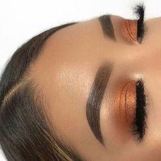 43 Trendy Hair Makeup Tutorial Make Up Eye Makeup Glitter, Prom Makeup, Cute Makeup, Pretty Makeup, Orange Eye Makeup, Sleek Makeup, Cheap Makeup, Wedding Makeup, Makeup Goals