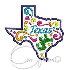 MACHINE EMBROIDERY DESIGN - Texas state, Mexican design, Calavera, Dia de los muertos, Day of the dead