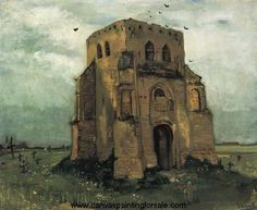Van Gogh  \\ Country Churchyard and Old Church Tower