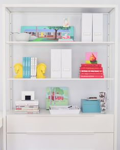 What Went Where- storage & displays in an office... so cute & practical!! | Young House Love